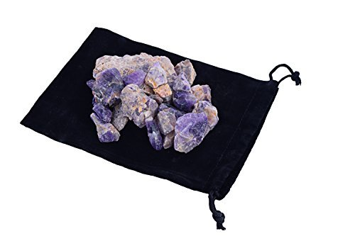 (Zentron Crystal Collection: 1/2 Pound Natural Rough Banded Amethyst Stones)