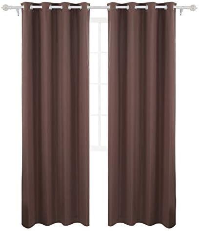 Deconovo Coating Back Layer Grommet Top Blackout Panels Window Curtains