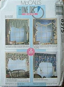 McCall's 8375 Home Dec Pattern 4 Designs for Window for sale  Delivered anywhere in USA