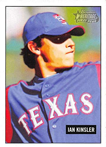 Ian Kinsler Texas Rangers - 2005 Bowman Heritage Baseball #240 Ian Kinsler RC Rookie Card Texas Rangers First Year Official MLB Trading Card From Topps