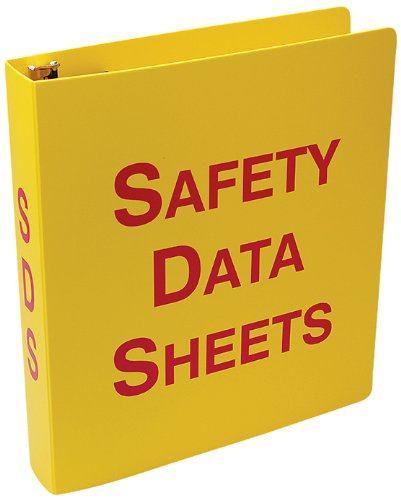 Accuform ZRS643 Safety Data Sheets (SDS) Binder, 3-Ring, 3