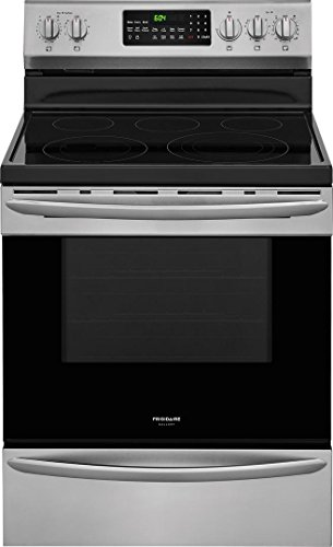 Frigidaire FGEF3059TF Gallery Series 30 Inch Freestanding Electric Range with 5 Elements, Smoothtop Cooktop, 5.7 cu. ft. Primary Oven Capacity, in Smudge-Proof Stainless Steel