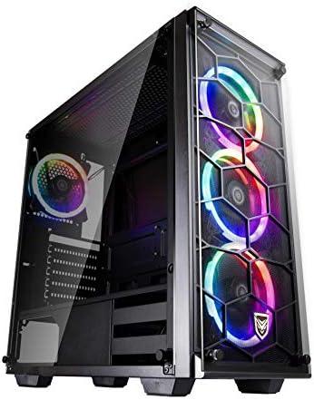 Nfortec Draco V2 Torre Gaming Negra RGB Diseño Full View (Cristal ...