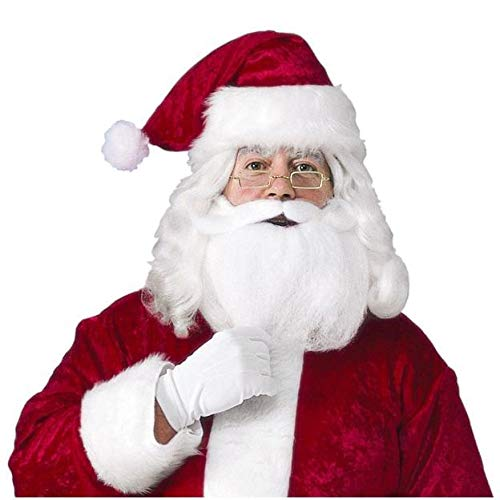 Rubie's Men's Santa Hat With Beard, Wig And Glasses, Red, One Size for $<!--$14.94-->