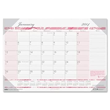 amazon hod1466 breast cancer awareness monthly desk pad calendar