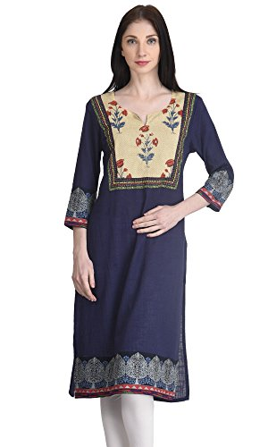 Indi-Dori-Womens-Cotton-Chain-Stich-Printed-York-Kurti