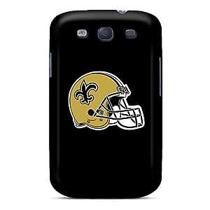 Shock Absorption Hard Phone Cases For Samsung Galaxy S3 With Custom Realistic New Orleans Saints Pattern KennethKaczmarek