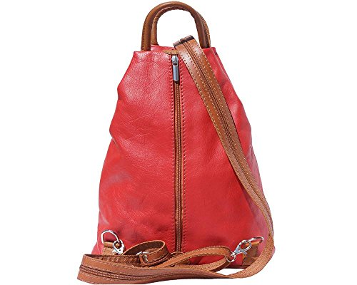 Au 207 Red Main Sac 207 multicolore Leather White amp; Florence Dos Pour Porté Noir À Tan Femme 4wfpqaYA
