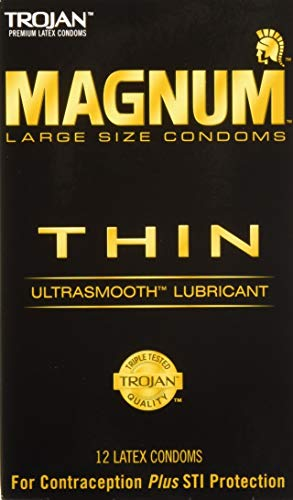 Trojan Magnum SxEWd Thin, 12 Count (Pack of 5) TaAHQ