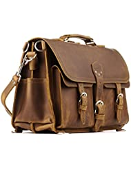 Saddleback Leather Front Pocket Briefcase - 100% Full Grain Leather Bag with 100 Year Warranty