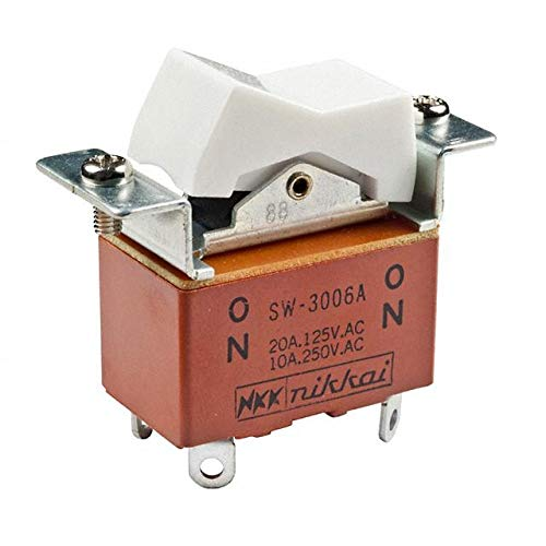 SWITCH ROCKER DPDT 20A 125V (Pack of 5) (SW3006A) by NKK Switches