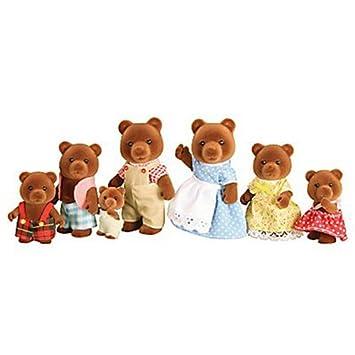 Sylvanian Families ??? Timbertop Bear Family Figure Set X 7 Brown Bears