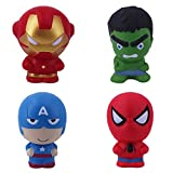 Senioroy Marvel Hero Squishy Toys Pack Slow Rising Super Soft with Scented to Kids for Venting and Relaxing (Super Hero)