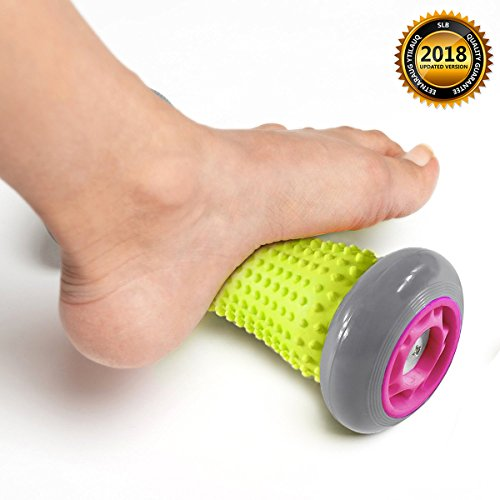 Foot Massager Roller, SLB Plantar Roller for Foot Arch Pain Relief, Exercise Roller Stick for Plantar Fasciitis(Gray)