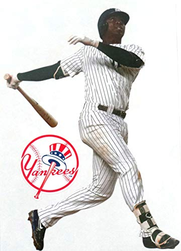 FATHEAD Didi Gregorius Mini New York Yankees Logo Official MLB Peel and Stick Re-Usable Vinyl Wall Graphic 7