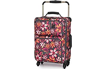 IT Luggage World's Lightest Small 4 Wheel Suitcase - Floral ...