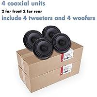 SOUMATRIX VMK4 Xtase 8 Speaker Sound Upgrade Kit-Set of 4 (Black)