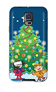 High Quality Christmas Desktop Computer Case For Galaxy S5 / Perfect Case