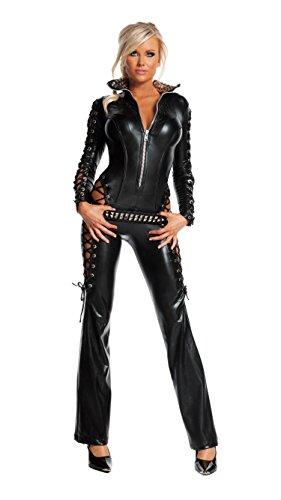 Starline Women's Rebel Sexy Costume Set, Black, Medium