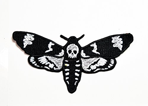 Skull Butterfly Dead Logo Biker Lady Rider Hippie Punk Rock patch Ideal for adorning your jeans, hats, bags, jackets and shirts.