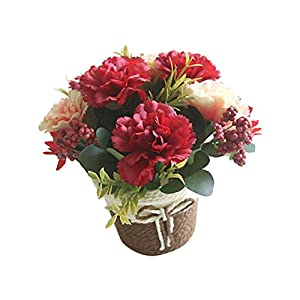 LAMEIDA Artificial Flowers Fake Carnation Flowers for Wedding Bouquets Home Bedroom Party Decorations Desktop Ornament 75