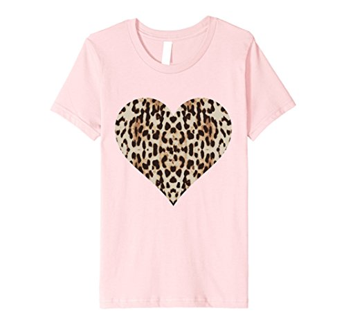 Kids Cheetah Leopard Heart t-shirt Cool Animal Print Love Symbol 6 Pink Leopard Pink Heart