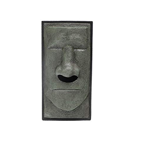 (Fenebort home Decor,2019 Head Facial Tissue Box Holder Cover Dispenser Face Easter Island Retro New,Personality,Fashion Tissue Paper Holder (A))