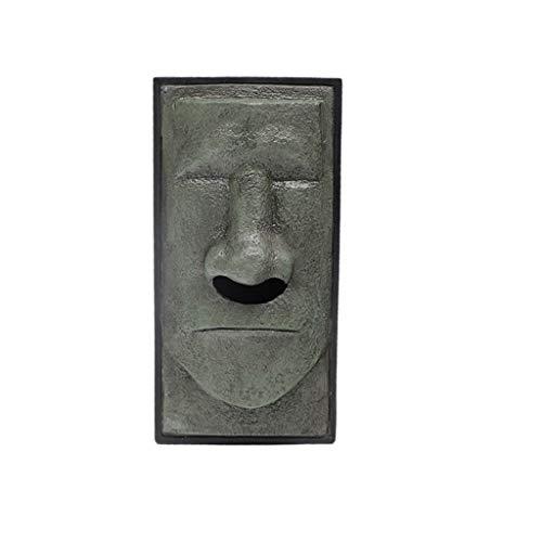 Connia Head Facial Tissue Box Holder Cover Dispenser Face Easter Island Retro NEW