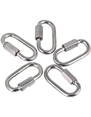 CNBTR 35x20mm Stainless Steel M3.5 Snap Quick Hook Link Chain Fastener with Threaded Nut Pack of 5