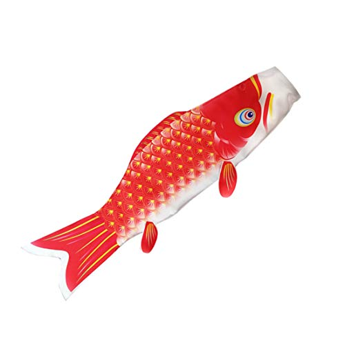 COGEEK Carp Wind Sock Flag Colorful Style Mini Koinobori Gifts Fish Wind Streamer Home Party Decorations (red, 39.3)