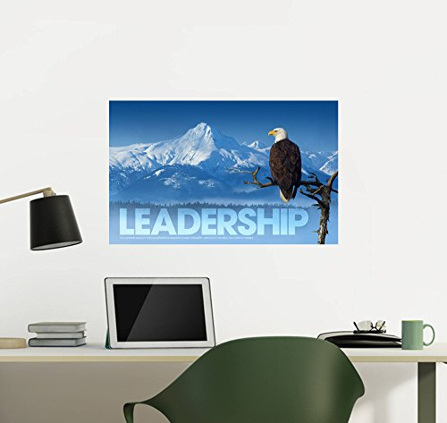 Successories Modern Motivational Wall Decal: Leadership Eagle on Branch (24 in x 15 - Eagle Leadership