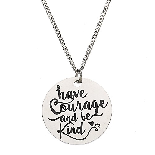 Polished Stainless Courage Inspirational Necklace product image