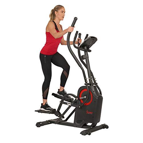 Sunny Health & Fitness Premium Cardio Climber Stepping Elliptical Machine - SF-E3919