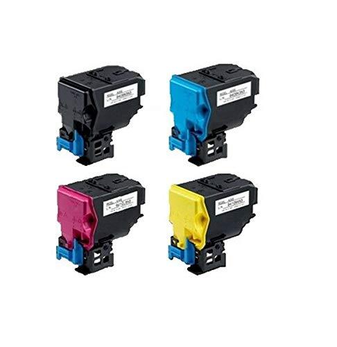 4 Pack Quality BLACK & COLOR Toner for KONICA MINOLTA TNP22, BizHub C35 / -
