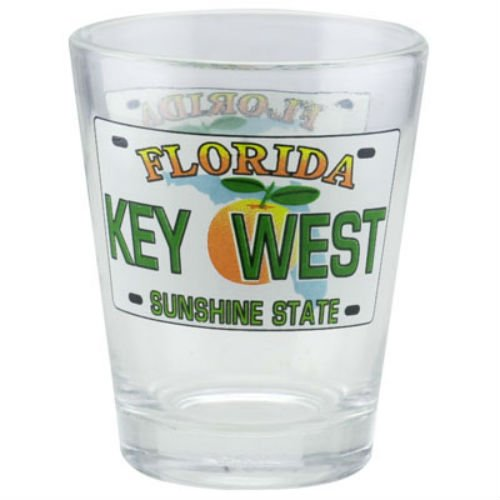 Plate Shot Glass - Key West Florida License Plate Shot Glass
