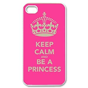 Generic Mobile Phone Cases Cover for iPhone 4 4c case Diy Customized New Keep Calm and Be a Princess Sparkle on Fashion Design Pattern Plastic Cell Phones Protective Shell Personalized Pattern Skin