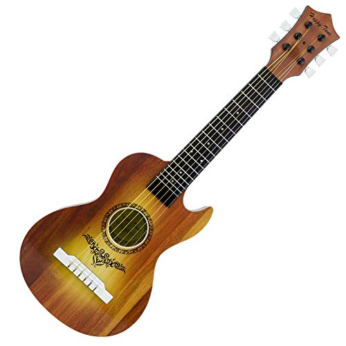 Liberty Imports Happy Tune 6 String Acoustic Guitar Toy for Kids with Vibrant Sounds and Tunable Strings (Brown)