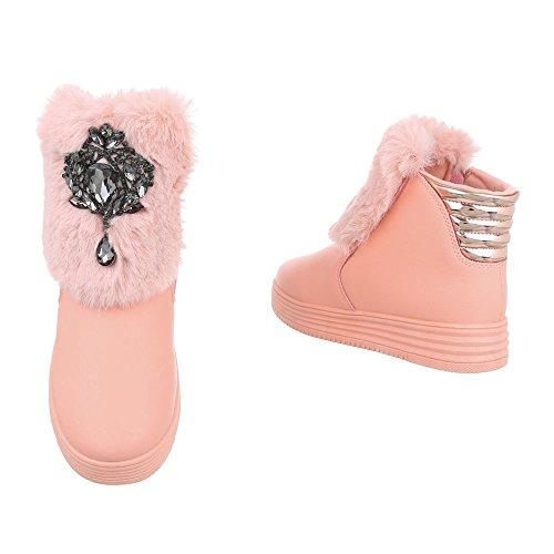 Zapatos para mujer Botas Plano Botines de plataforma Ital-Design Altrosa