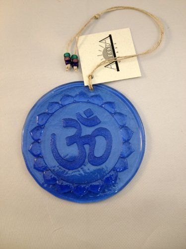 Ohm Suncatcher 100% Recycled Glass - Made in USA - Om by Aurora Glass - Made in USA