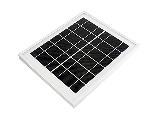 Waveshare Mini Solar Panel (6V 5W) with 156 Monocrystalline Cell for Solar Power Manager, Toughened Glass+ Anodic Oxidation Aluminum Alloy+ 0.25mm PET Material,6.0V ± 5% Voltage (Solar Cells 6x6 Monocrystalline)