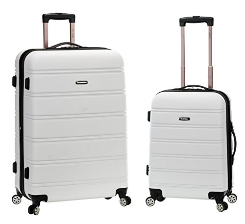 Rockland 20 Inch 28 Inch 2PC Expandable ABS Spinner Set, White, One Size by Rockland