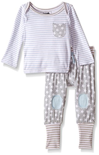 Mud Pie Baby Twinkle 2-Piece Set, Gray, 0-3 Months