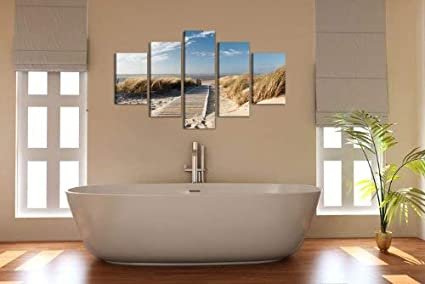 Der letzte Tag von Pompeji Klassik Leinwandbilder 150x80 cm Vlies Leinwandbild 5 teilig kunstdrucke modern wandbilder XXL Wanddekoration Design wandbild