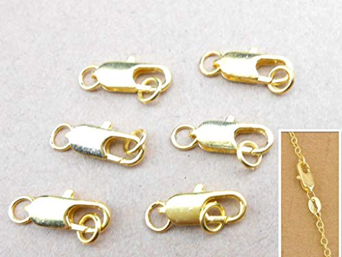 Price comparison product image FidgetFidget Wholesale 50-500PCS Jewelry Findings 18K Yellow Gold Plating Lobster Clasps 100