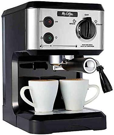 Mr. Coffee BVMC-ECMP80 Home Kitchen Italian 19 Bar Pump Automatic Cappuccino, Latte, Espresso Maker Machine with 2 Ceramic Cups, Black