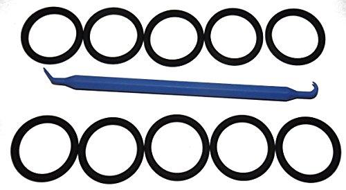 SCUBA Standard 3/4inch NPS K-Valve / DIN Valve Neck DuPont Viton 214 O-Ring (10 pcs) [Bonus O-Ring (Din Tank Valve)