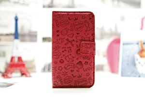 Magic Girl Cute lovely Little Witch Flip Pouch Cover PU Leather Skin Case Cover for LG OPTIMUS BLACK P970 (red)