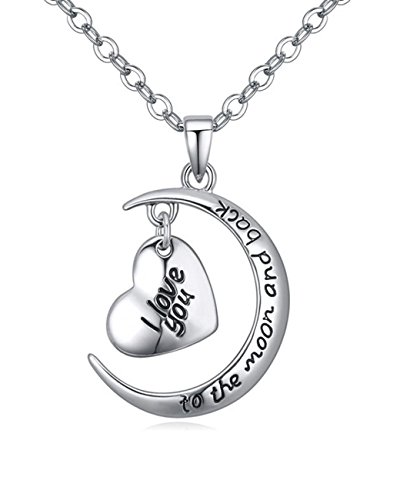 Fashion Heart-Shaped Silvery Pendants Necklace's Engraving
