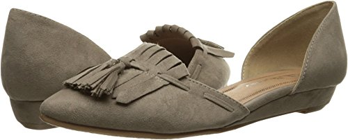 Chinese Laundry Flat - CL by Laundry Women's Seline Dark Taupe Super Suede 11 M US