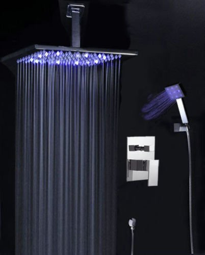 10 inches chrome LED shower head - 4